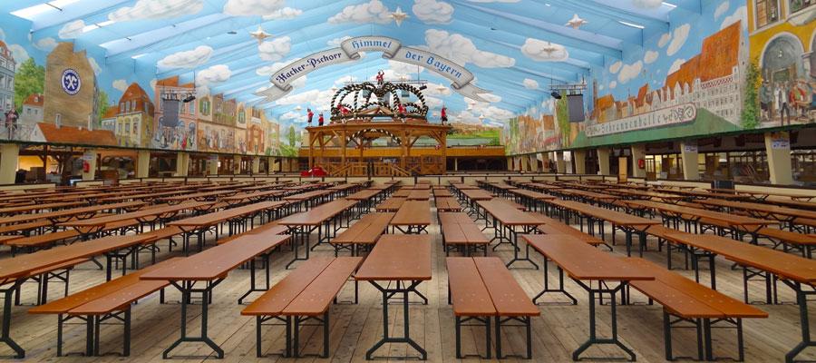 Oktoberfest empty tent