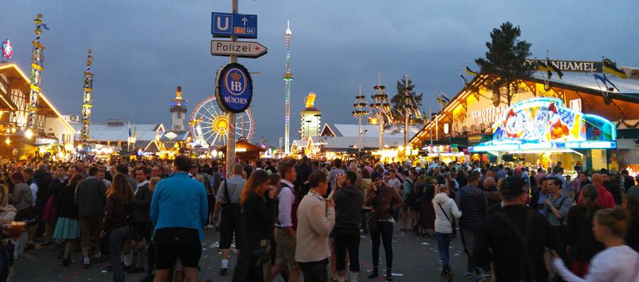 Oktoberfest fairgrounds