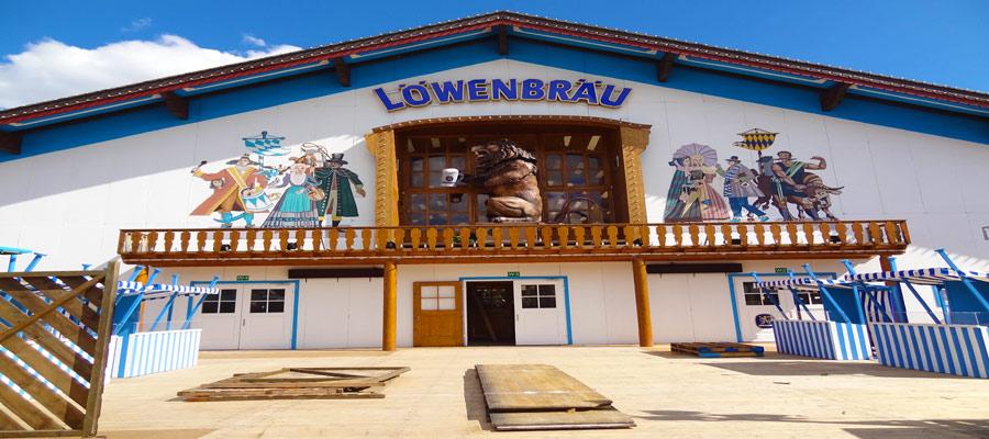 Oktoberfest Lowenbrau tent