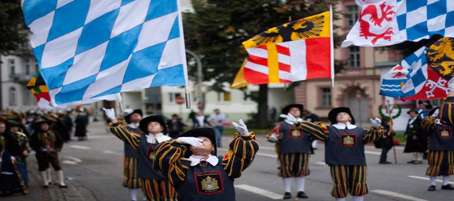 Oktoberfest parade flags