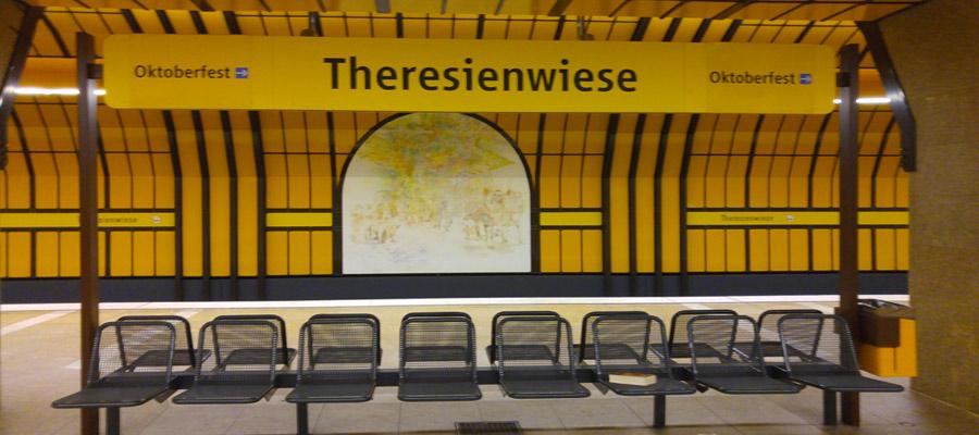 Oktoberfest subway stop
