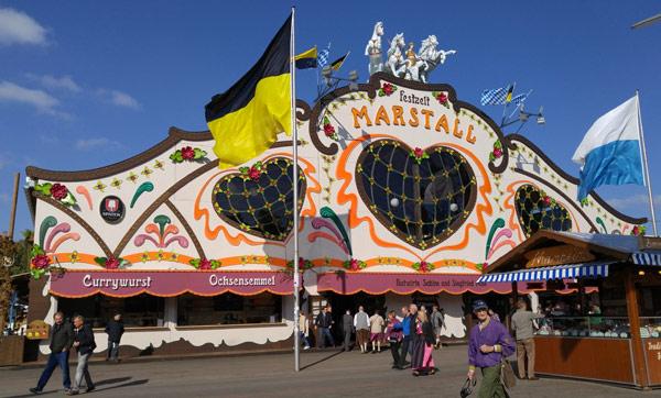 Marstall tent & Munich list of Oktoberfest beer tents