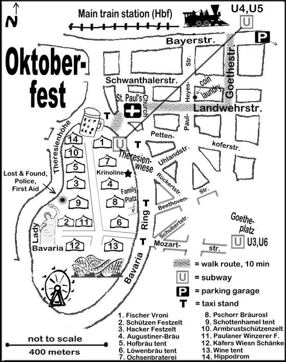... station Oktoberfest map  sc 1 st  Oktoberfest packages u0026 beer tent reservations & How to get to Oktoberfest fairgrounds